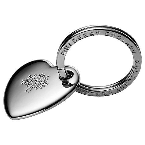 Buy Mulberry Metal Heart Keyring Online at johnlewis.com