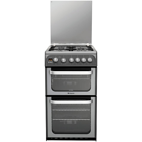 Buy Hotpoint Ultima HUG52G Gas Cooker, Graphite Online at johnlewis.com