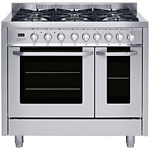 Buy John Lewis JLRCSS104 Dual Fuel Range Cooker, Stainless Steel Online at johnlewis.com