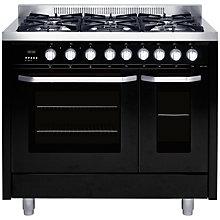 Buy John Lewis JLRCBK105 Dual Fuel Range Cooker, Black Online at johnlewis.com