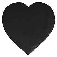 Buy Just Slate Heart Shaped Cheese Board Online at johnlewis.com