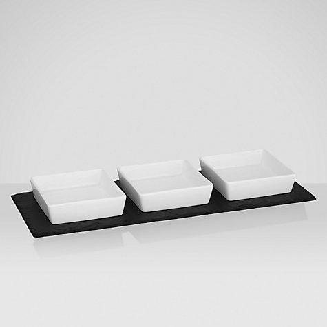 Buy Just Slate Mezze Platter with Slate Base Online at johnlewis.com