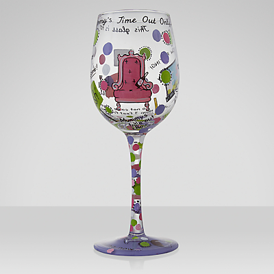 Lolita Mummy's Time Out Wine Glass