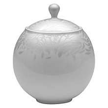 Buy Denby Monsoon Lucille Covered Sugar Pot, Silver Online at johnlewis.com