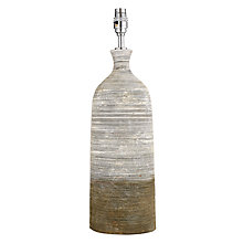 Buy John Lewis Stoneware Ribbed Lamp Base, Tall Online at johnlewis.com