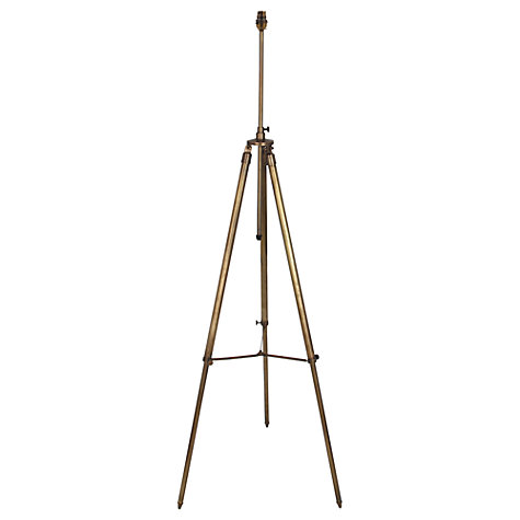 Buy John Lewis Tripod Floor Lamp Base, Brass Online at johnlewis.com