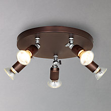 Buy John Lewis Churchill 5 Plate Spotlight, Bronze Online at johnlewis.com