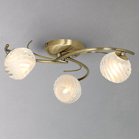 Buy John Lewis Hugo Semi Flush Light, 3 Light Online at johnlewis.com