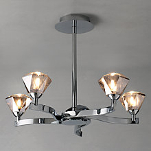 Buy John Lewis Lucie Semi Flush Ceiling Light, 5 Light Online at johnlewis.com