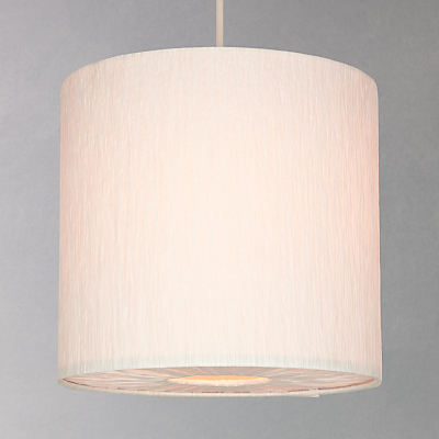 John Lewis Easy-to-fit Libby Pendant, Cream, Small