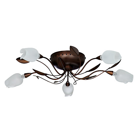 Buy John Lewis Oria Semi Flush Light, 5 Light Online at johnlewis.com