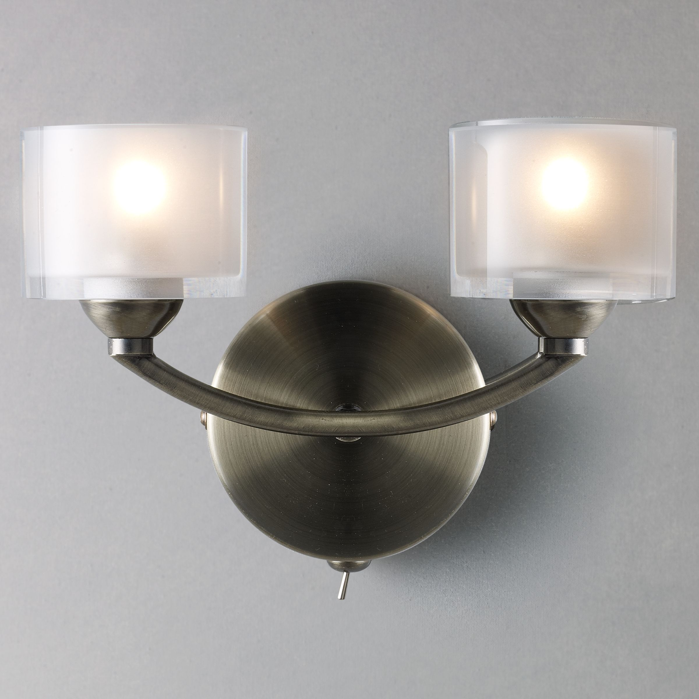 John Lewis Wall Lights Glass : Buy John Lewis Paige Double Wall Light John Lewis