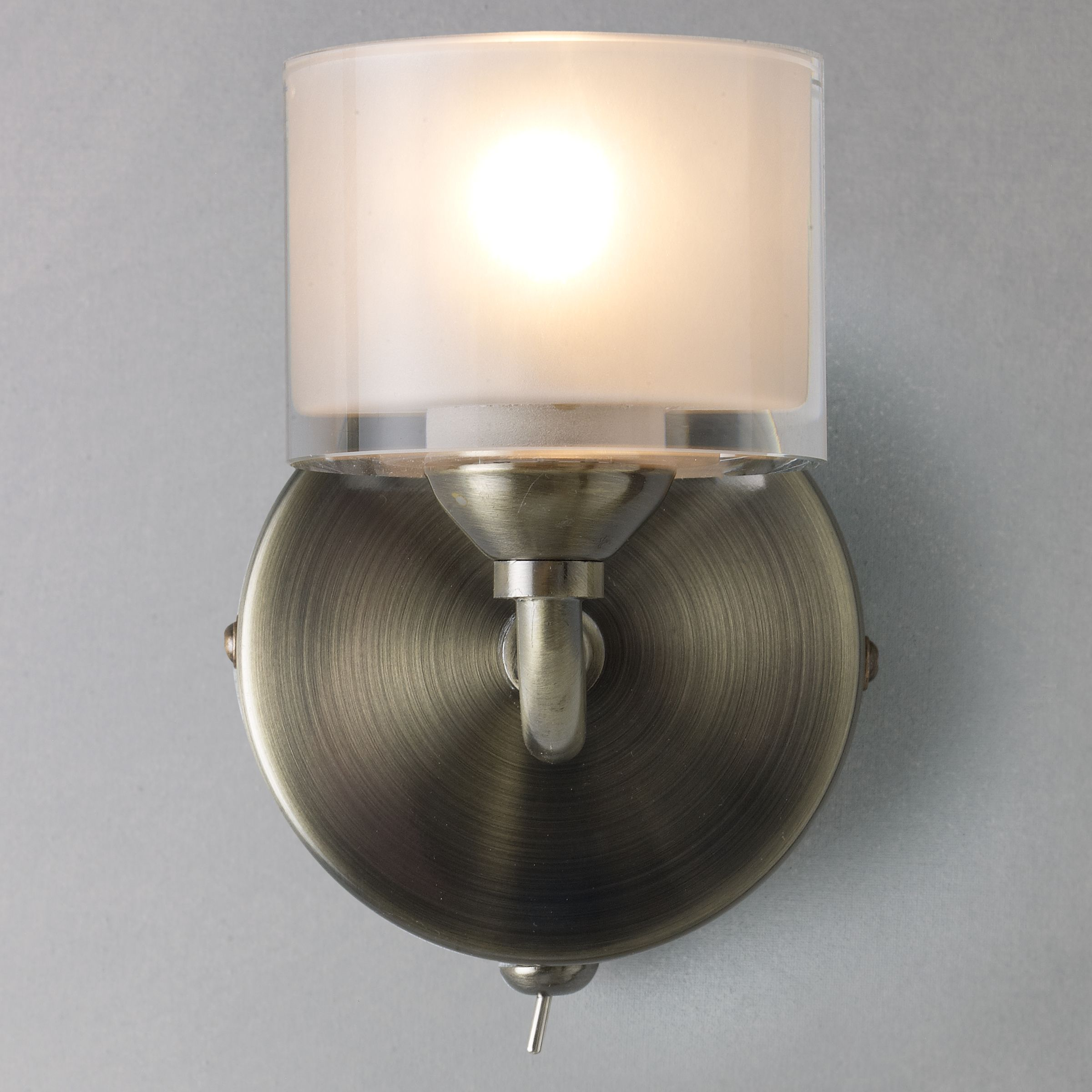 John Lewis Wall Lights Glass : Buy John Lewis Paige Single Wall Light John Lewis