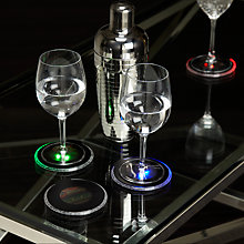 Buy John Lewis LED Drinks Mats Lights, Set of 4 Online at johnlewis.com