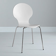 Buy John Lewis Value Curve Chair, White Online at johnlewis.com