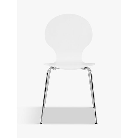 Buy John Lewis The Basics Curve Dining Chair, White Online at johnlewis.com