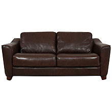 Buy John Lewis Darwin Large Leather Sofa, Brown Online at johnlewis.com