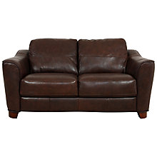 Buy John Lewis Darwin Small Leather Sofa, Brown Online at johnlewis.com