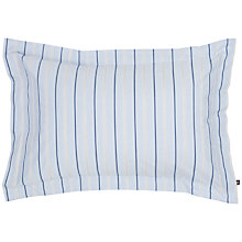 Buy Gant Chambray Stripe Standard Pillowcase, Blue Online at johnlewis.com