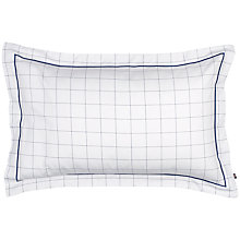 Buy Gant Window Check Standard Pillowcase, White Online at johnlewis.com