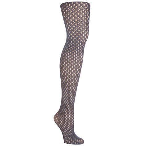 Buy Pretty Polly Diamond Dot Tights, Carbon Online at johnlewis.com