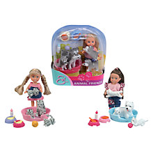 Buy Steffi Evi Doll and Animal Friends, Assorted Online at johnlewis.com