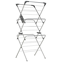 Buy John Lewis 3 Tier Airer, Silver Online at johnlewis.com