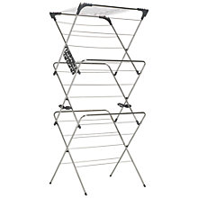 Buy John Lewis 3 Tier Clothes Airer, Chrome Online at johnlewis.com