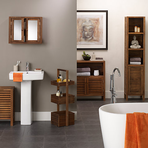Buy John Lewis Jakarta Bathroom Towel Cupboard, Double Online at johnlewis.com