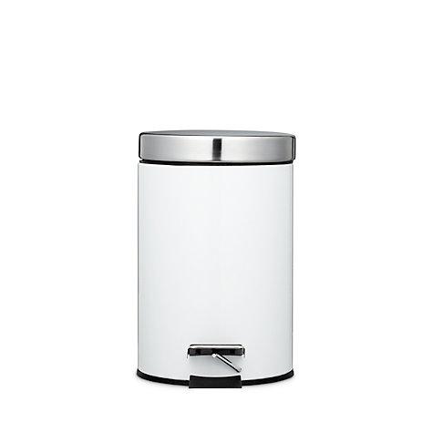 buy john lewis new york white gloss pedal bin 3l john lewis. Black Bedroom Furniture Sets. Home Design Ideas