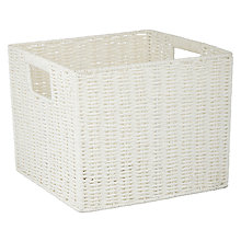 Buy John Lewis White Rope Open Top Basket Online at johnlewis.com
