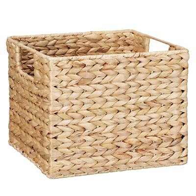 John Lewis Water Hyacinth Open Top Basket