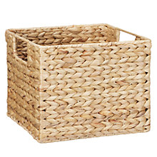 Buy John Lewis Water Hyacinth Open Top Basket Online at johnlewis.com