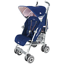 Buy Maclaren Techno XLR Pushchair, Medieval Blue/Pink Online at johnlewis.com