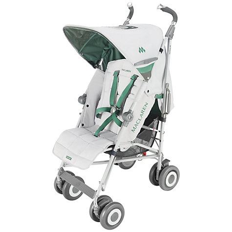 Buy Maclaren Techno XLR Pushchair, Silver/Pine Green Online at johnlewis.com