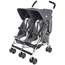 Buy Maclaren Twin Triumph Buggy, Charcoal/Silver Online at johnlewis.com