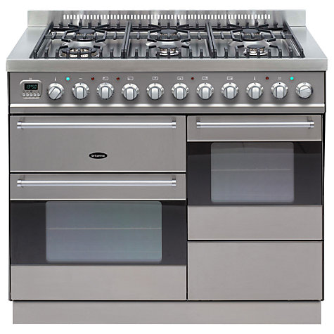 Buy Britannia SI-10XG6-E-S Dual Fuel Range Cooker, Stainless Steel Online at johnlewis.com