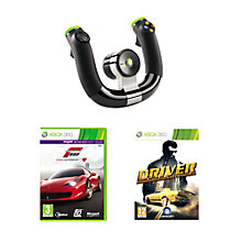 Buy Xbox 360 Wireless Speed Wheel with Forza Motorsport 4 and Driver: San Francisco Games Online at johnlewis.com