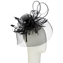 Buy Whiteley Diamanté Fascinator, Black Online at johnlewis.com