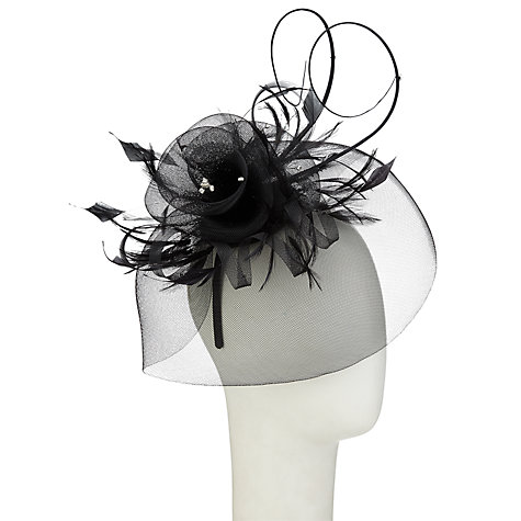Buy Whiteleys Diamanté Fascinator, Black Online at johnlewis.com