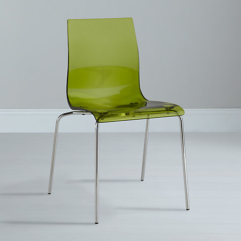 Buy John Lewis Gel Chrome Leg Dining Chair Online at johnlewis.com