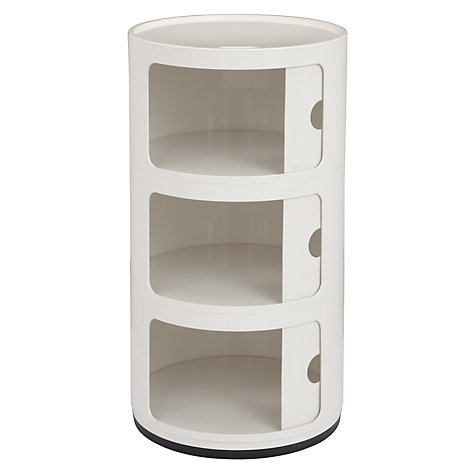 Buy Anna Castelli Ferrieri for Kartell Componibili 3 Tier Unit, White Online at johnlewis.com