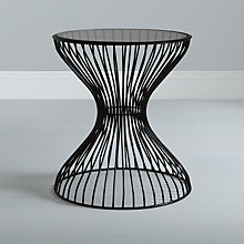 Buy Content by Conran Curved Wire Side Table, Black Online at johnlewis.com