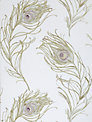 Prestigious Textiles Peacock Wallpaper, Heather, 1938/153