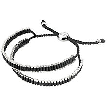 Buy Links of London Double Friendship Bracelet, Black/Silver Online at johnlewis.com