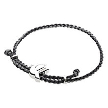 Buy Links of London FEED Dove Grey and Metallic Cord Bracelet Online at johnlewis.com