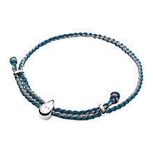 Buy Links of London FEED Water Drop Cord Bracelet, Blue/Pewter Online at johnlewis.com