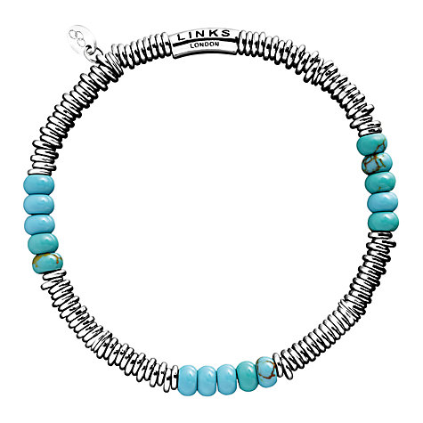 Buy Links of London XS Sweetie Bracelet, Turquoise Online at johnlewis.com