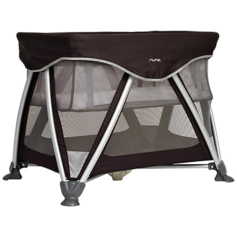 Buy Nuna Sena Travel Cot, Black Online at johnlewis.com