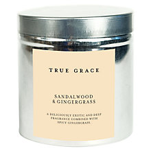 Buy True Grace Candle Tin, Sandalwood & Gingergrass Online at johnlewis.com